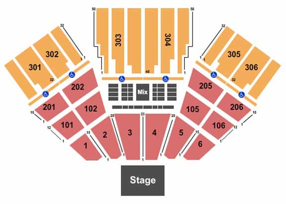 fivepoint amphitheatre seating map