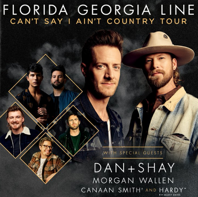 Florida Georgia Line, Dan and Shay & Morgan Wallen at FivePoint Amphitheatre