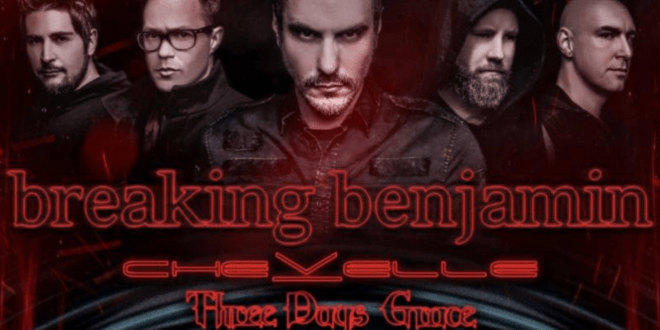 Breaking Benjamin, Chevelle & Three Days Grace at FivePoint Amphitheatre