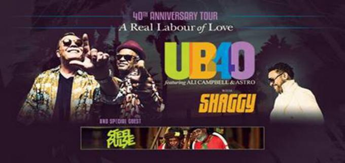 UB40's Ali and Astro & Shaggy at FivePoint Amphitheatre