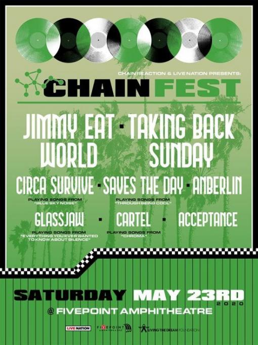 Chain Fest: Jimmy Eat World, Taking Back Sunday, Circa Survive & Anberlin at FivePoint Amphitheatre