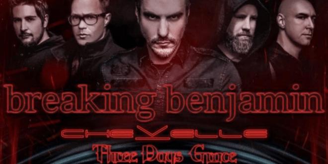 Breaking Benjamin, Chevelle & Three Days Grace at FivePoint Amphitheatre